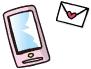 電話とメールの画像