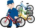 自転車を撤去する画像
