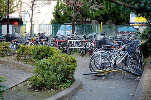 放置自転車の画像